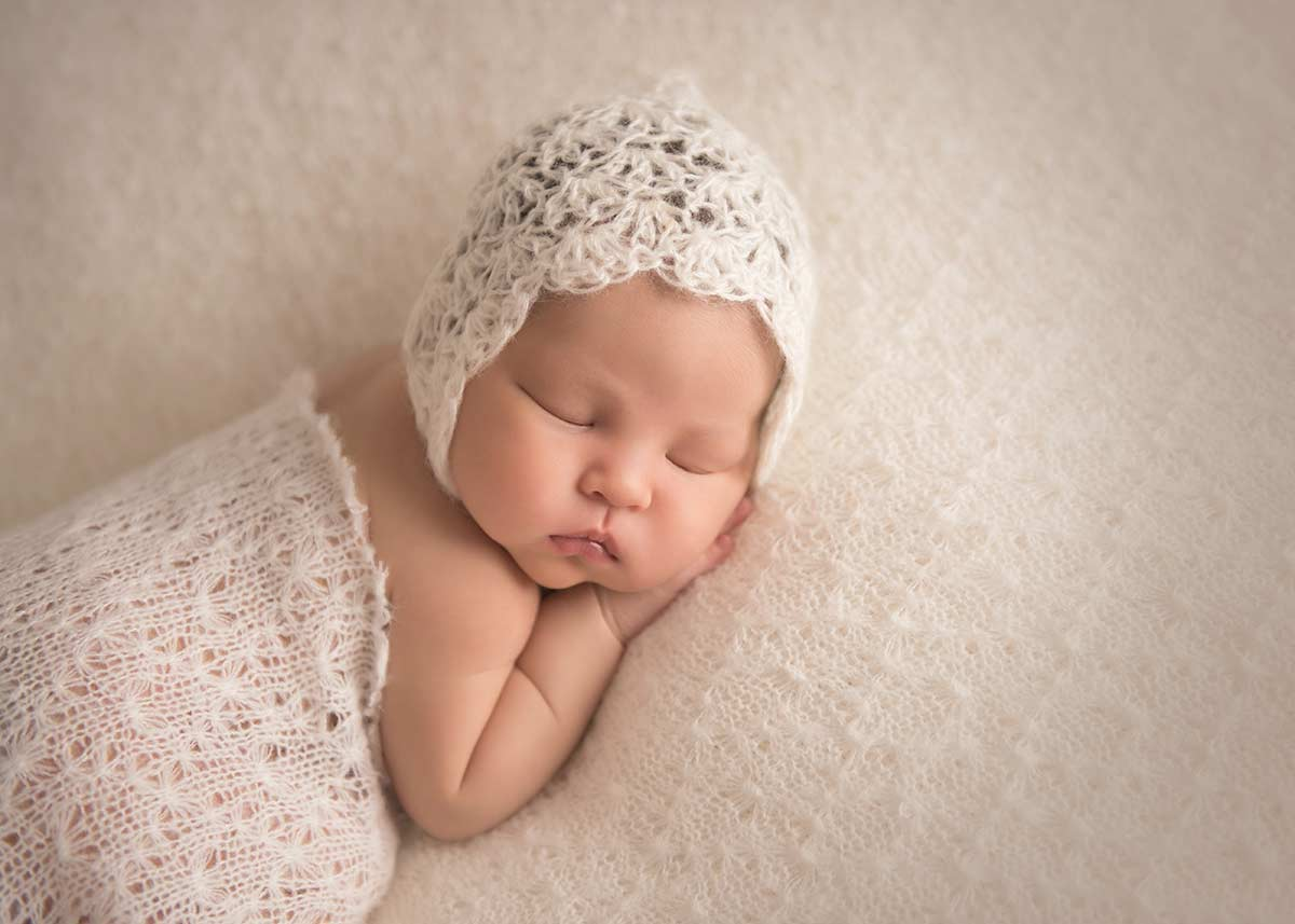 Cute little newborn baby photo