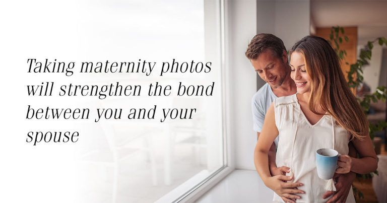 Lifestyle image of a pregnant couple hugging
